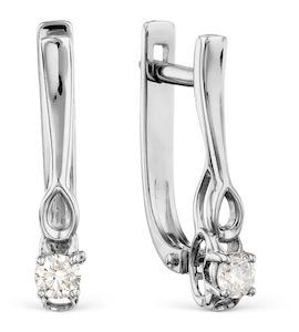 Серьги с бриллиантами Т301028436