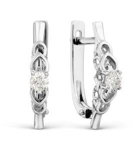 Серьги с бриллиантами Т301028438