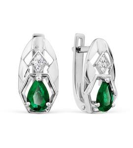 Серьги с изумрудами и бриллиантами Т301028700