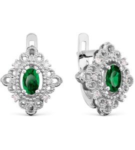 Серьги с изумрудами и бриллиантами Т301029598_3