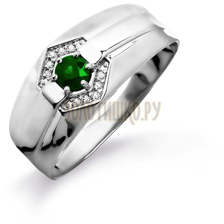 Кольцо с изумрудом и бриллиантами Т301045225_2