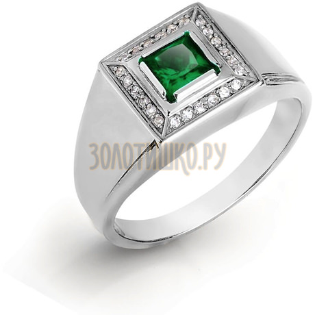 Кольцо с бриллиантами и ониксом Т301046583-01