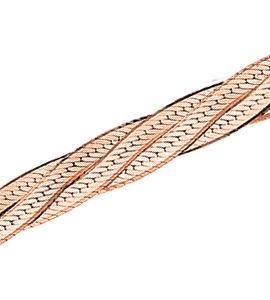 Трипла батута косичка из 4-х цепочек с алмазной гранью d 0,30
