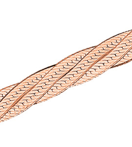 Трипла батута косичка из 4-х цепочек с алмазной гранью d 0,35