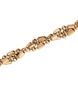 Шарик+бочка косичка из 3-х цепочек с алмазной гранью d 1,20