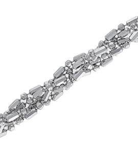 Шарик+бочка косичка из 5-и цепочек с алмазной гранью d 1,20