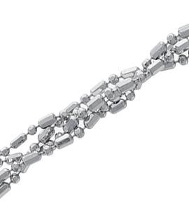 Шарик+бочка косичка из 4-х цепочек с алмазной гранью d 1,20