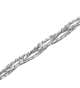 Гурмета кованая круглая косичка из 3-х цепочек с алмазной гранью d 0,40