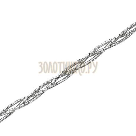 Гурмета кованая круглая косичка из 3-х цепочек с алмазной гранью НЦ22-311-3-0,40