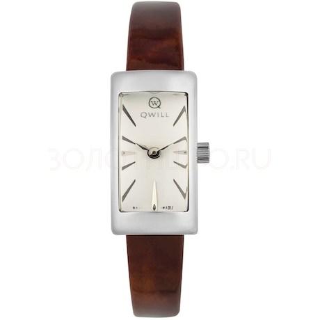 Серебряные женские часы QWILL 6052.00.00.9.15A