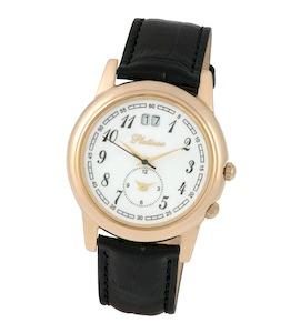 """Мужские золотые часы """"Алекс"""" 40150.105"""