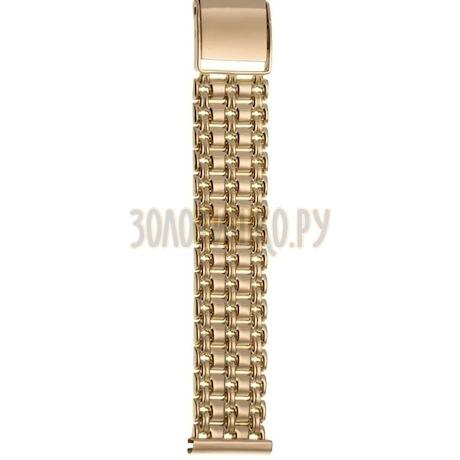Золотой браслет для часов (20 мм) 42011