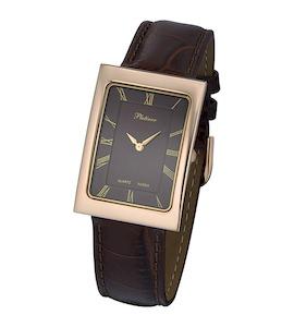 """Мужские золотые часы Platinor """"Атлантида"""" 46030.715"""