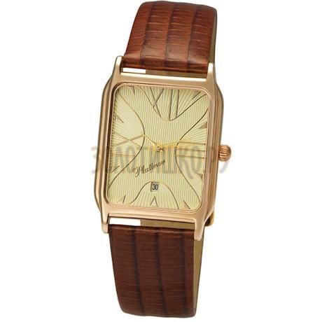 """Мужские золотые часы """"Манхэттен"""" 50850.432"""