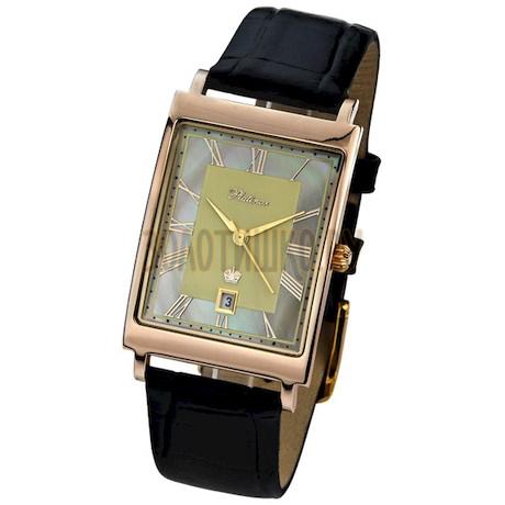 """Мужские золотые часы """"Кредо-2"""" 54350-1.407"""