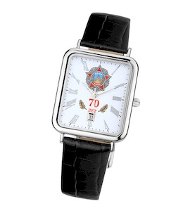 """Мужские серебряные часы """"Атлант"""" 54600.190"""