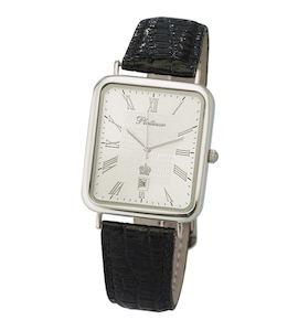 """Мужские серебряные часы """"Атлант"""" 54600.221"""