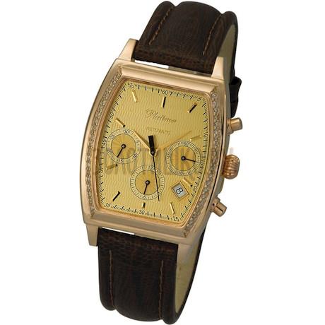 "Мужские золотые часы ""Штурман"" 55551А.404"