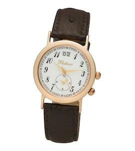 """Мужские золотые часы Platinor коллекции """"Шанс"""" 55850.105"""