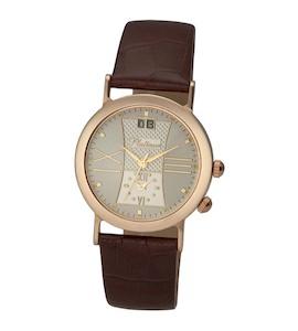 """Мужские золотые часы Platinor коллекции""""Шанс"""" 55850.232"""