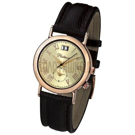 """Мужские золотые часы Platinor коллекции """"Шанс"""" 55850.415"""