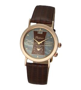 """Мужские золотые часы Platinor коллекции """"Шанс"""" 55850.732"""