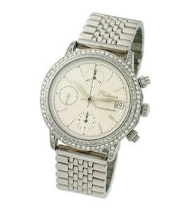 "Мужские часы из платины ""Консул"" 57771-3.103"