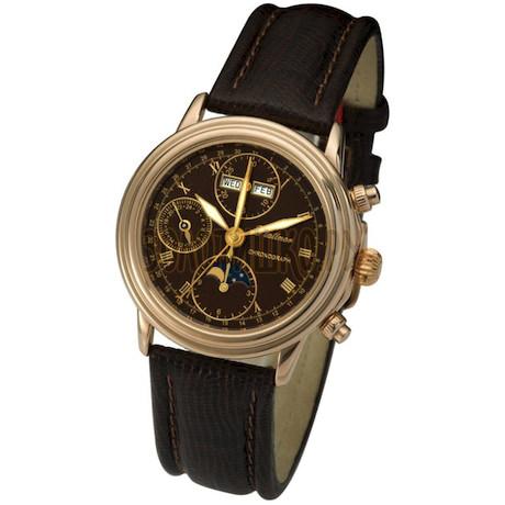 """Мужские золотые часы """"Монарх"""" 57850.715"""