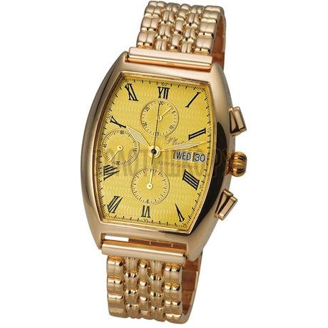 """Мужские золотые часы """"Маршал"""" 58150.415"""