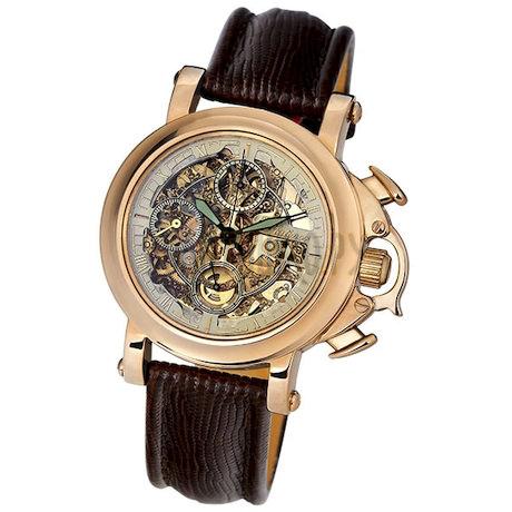 """Мужские золотые часы """"Буран"""" 59050Д.455"""