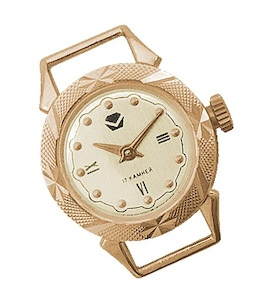 Часы золотые 01842
