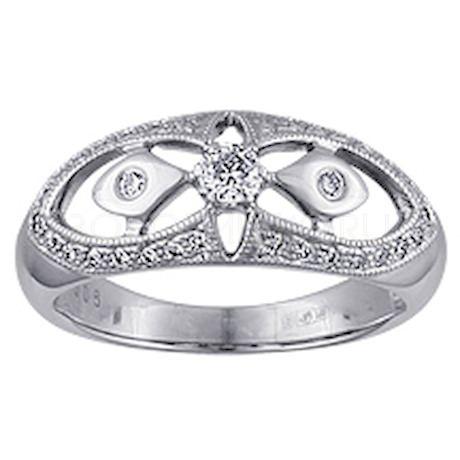 Кольцо с бриллиантами 10225