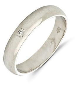 Обручальное кольцо с бриллиантом 10711