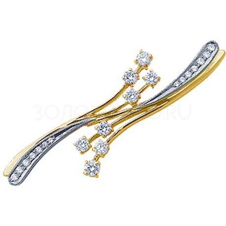 Брошь с бриллиантами 14707