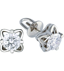 Серьги с бриллиантами 14906