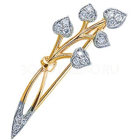 Брошь с бриллиантами 15501