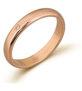 Обручальное кольцо с бриллиантом 53088