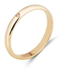 Обручальное кольцо с бриллиантом 53089