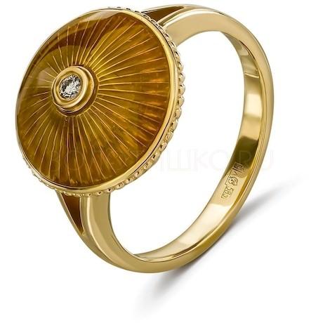 Кольцо с бриллиантом и эмалью 53145