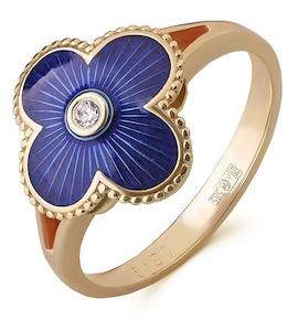 Кольцо с бриллиантом и эмалью 53151