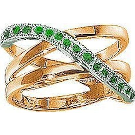 Кольцо с изумрудами 70597
