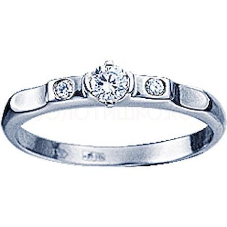 Кольцо с бриллиантами 71241