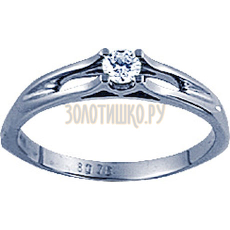 Кольцо с бриллиантом 71365