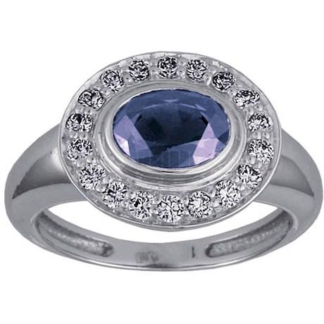 Кольцо с сапфиром и бриллиантами 88239