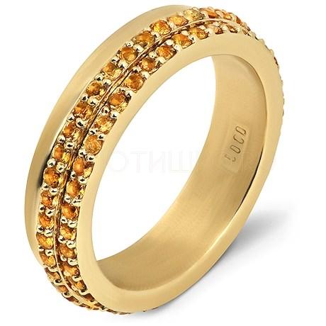 Кольцо с цитринами 95359