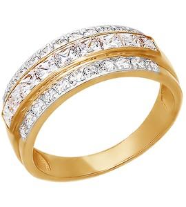 Кольцо из золота с фианитами 011559