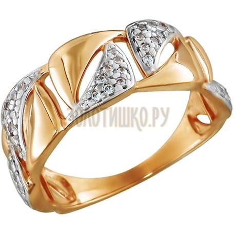 Кольцо из золота с фианитами 015805