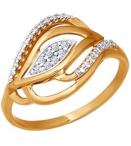 Кольцо из золота с фианитами 015985