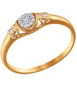 Помолвочное кольцо с фианитом 016522