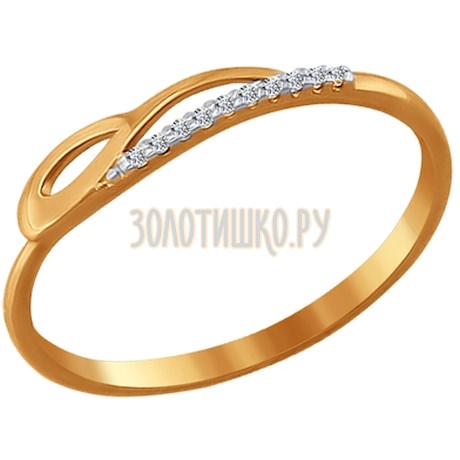 Кольцо из золота с фианитами 016557
